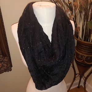 MIXIT BLACK GLITTERY Infinity SCARF